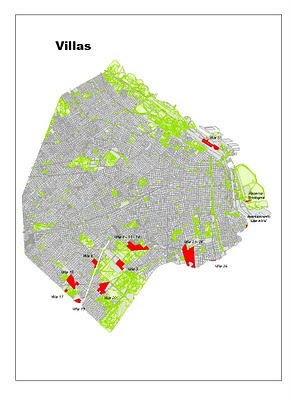 Geograf a f sica el 68 5 de los asentamientos del gran for Villas en buenos aires