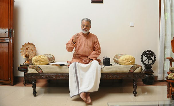 Dr K Radhakrishnan as an artiste and a spiritual person - Photo courtesy: The Week