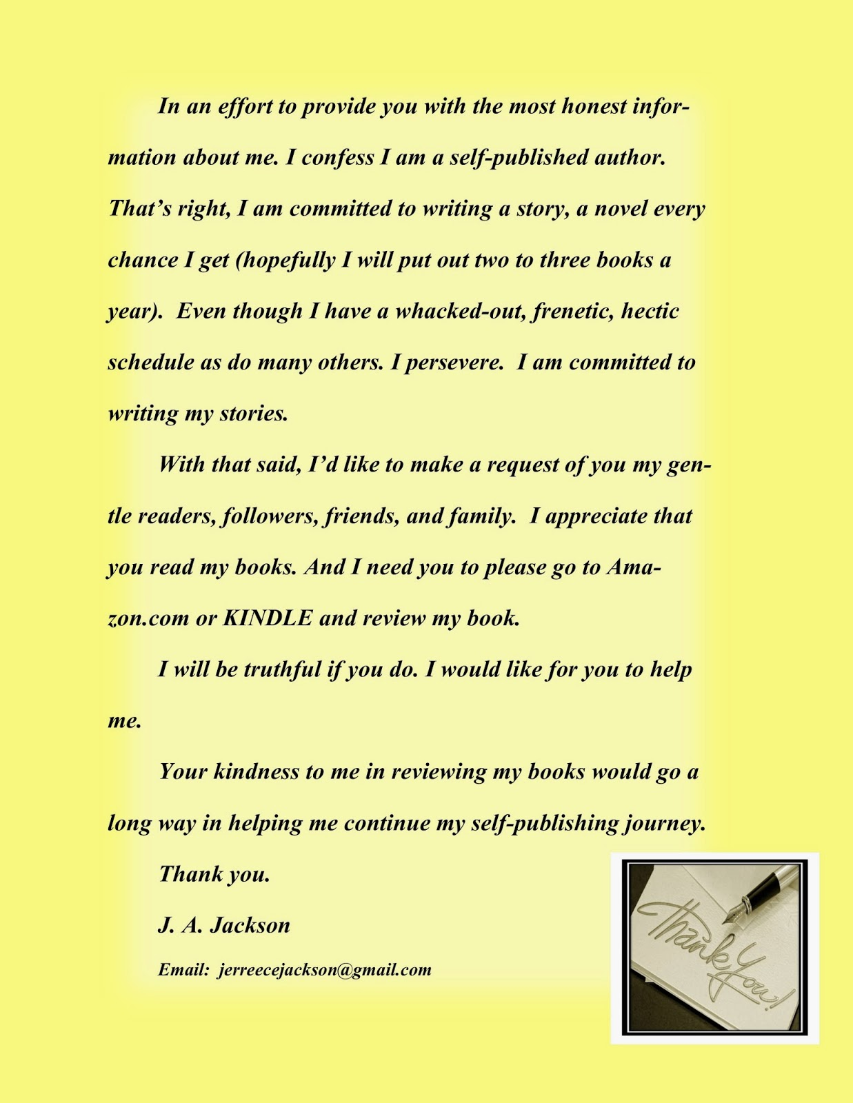 Jajackson thank you to everyone who grabbed by kindle free book my letter is the yellow picture please click the letter for my message thanks again i appreciate you aljukfo Gallery