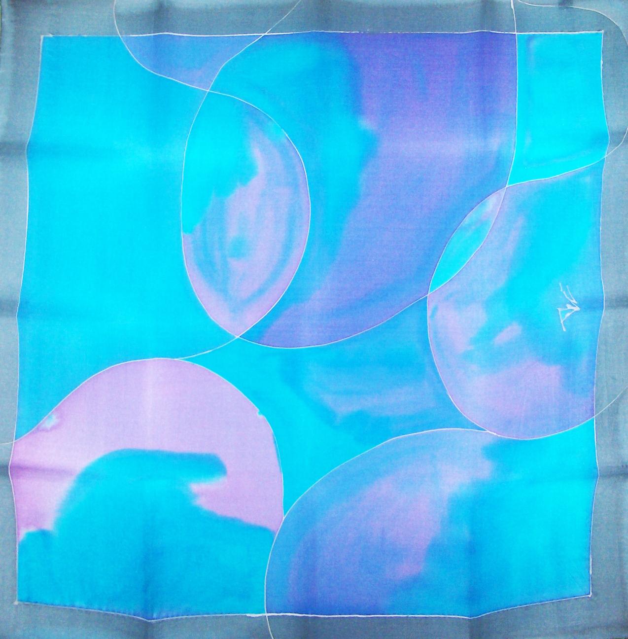 Pañuelo en seda, técnica guta Clara Tengonoff
