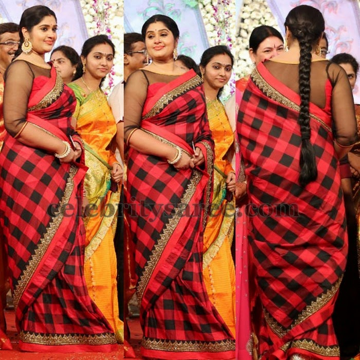 TV Artist Stripes Silk Saree