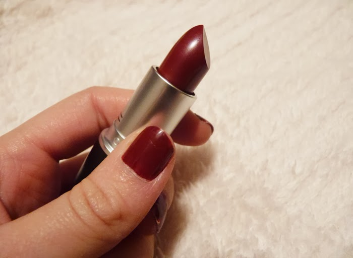 GIVE ME MORE: Pucker Up: Mac Party Line Lipstick Review
