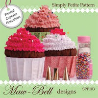 Maw Bell Designs Frosted Cupcake Pincushion