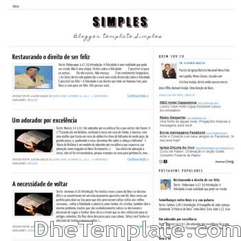 Simples Blogger Template. minimalist design blogger template. blogspot template free