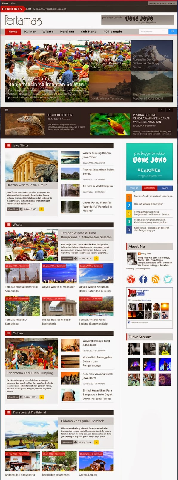 Pertamag Responsive Magazine Blogger Template