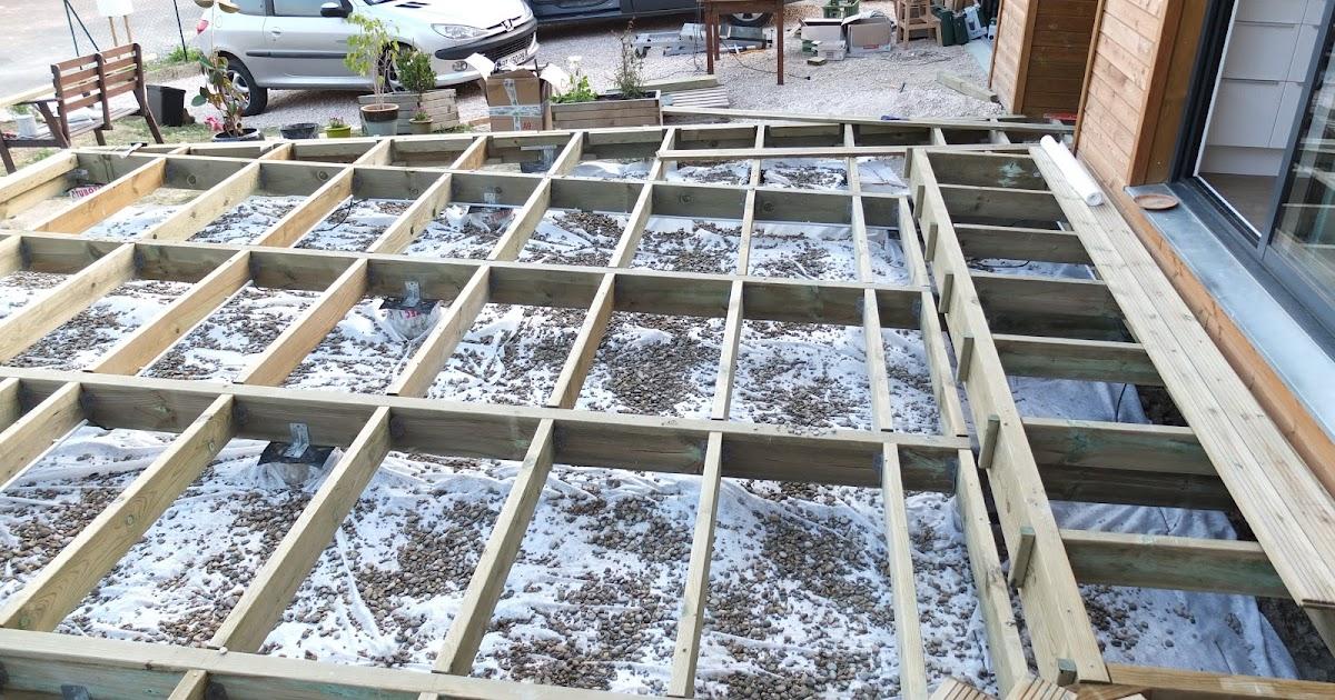 Notre maison en bois pose du g otextile et fabrication du bac pour le palmier - Pose geotextile terrasse ...