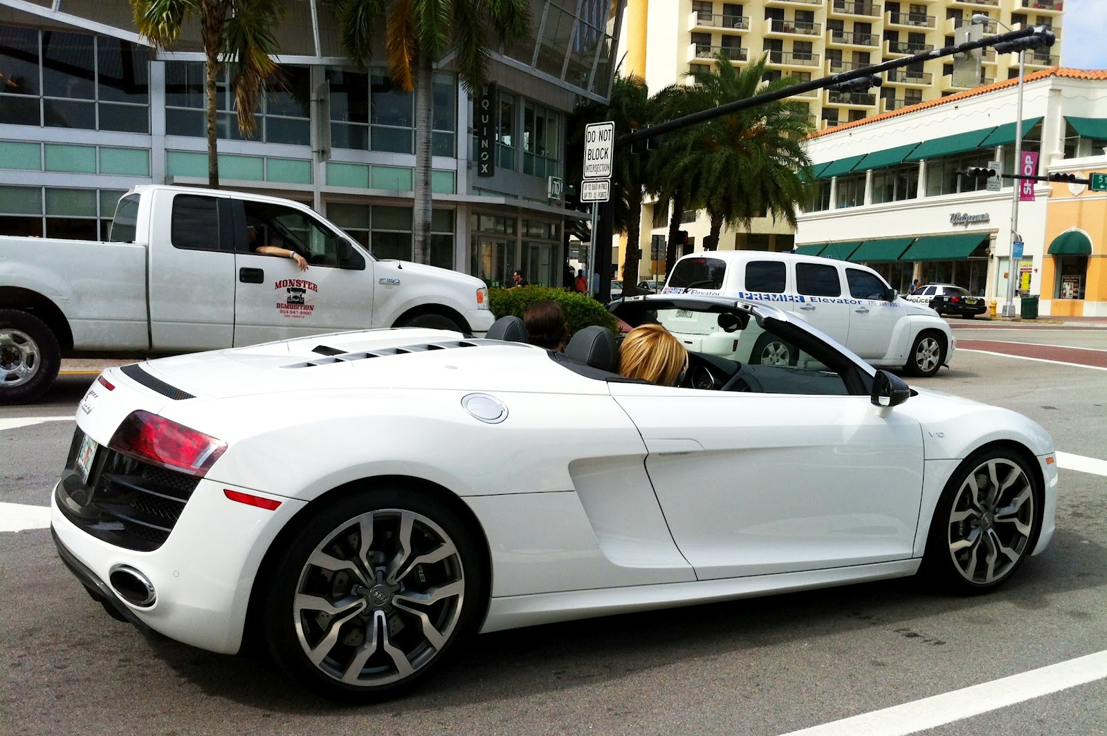 white 2012 audi r8 spyder - on south beach | exotic cars on the