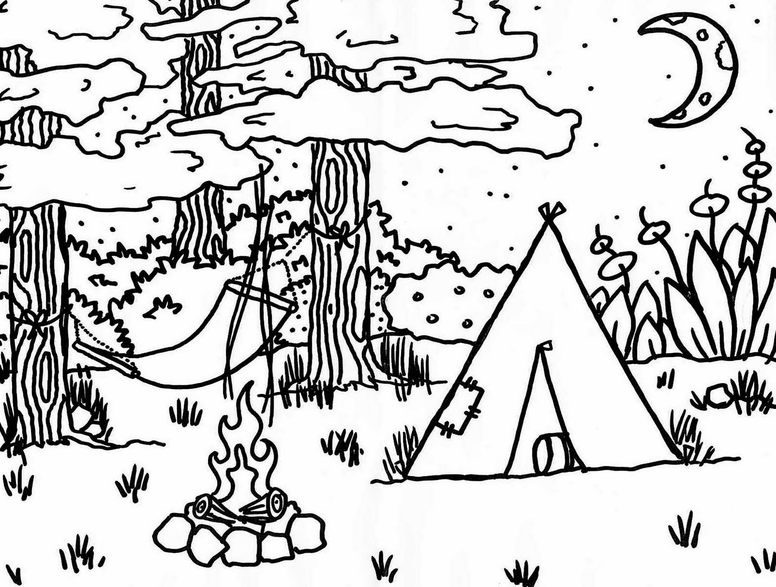 Free coloring pages of hiking in