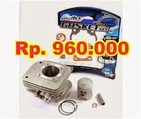 Blok F1ZR Bore up 56 mm Faito Complit set  Piston.ring,pen,klip,paking atas bawah,Rp. 960.000