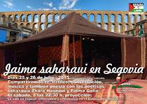 Jaima saharaui en Segovia