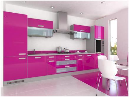 D Interiors Różowe Kuchnie
