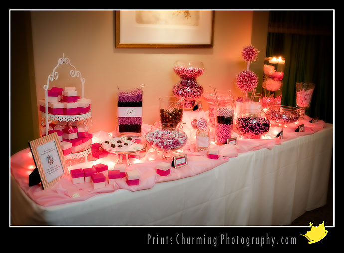 I love the idea of the candy bar look at parties so why not at the wedding