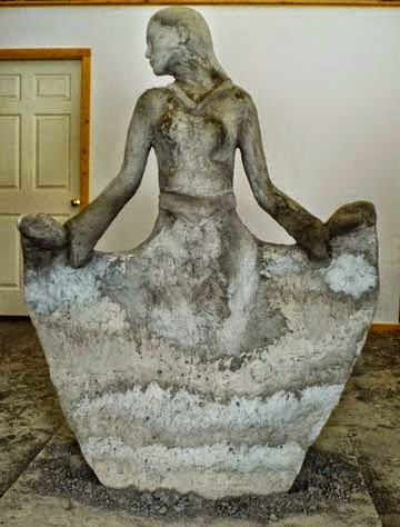 Why band name Concrete Blonde - goldy front - concrete sculpture
