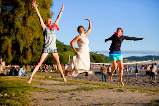 Elan and Friends at Golden Gardens - Patricia Stimac, Seattle Wedding Officiant