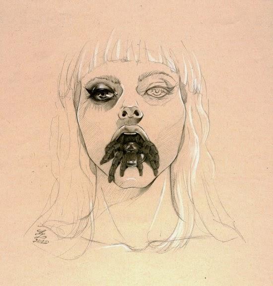 Zoe Lacchei ilustrações sombrias surreais terror
