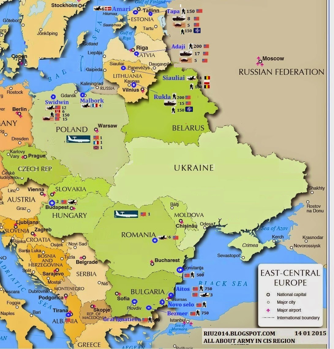 Nato Bases In East Europe