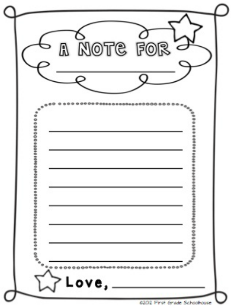 letter templates for students