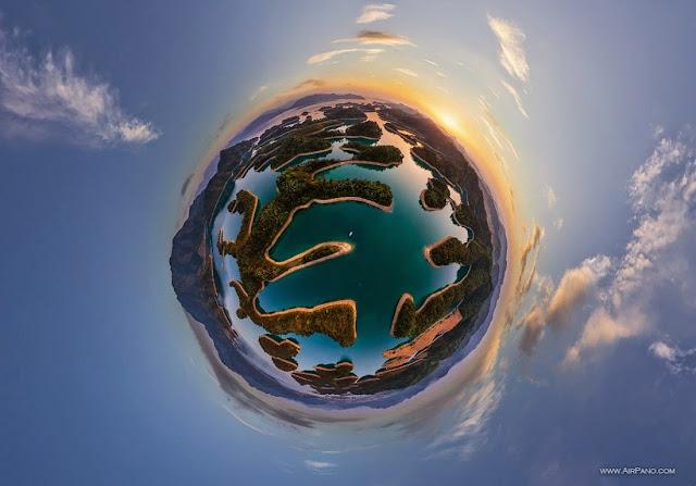 AirPano Planets, fotografías panorámicas 360º, Lago de las mil Islas, China