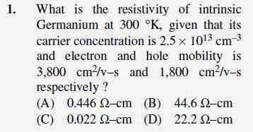 2012 June UGC NET in Electronic Science, Paper III, Question 1