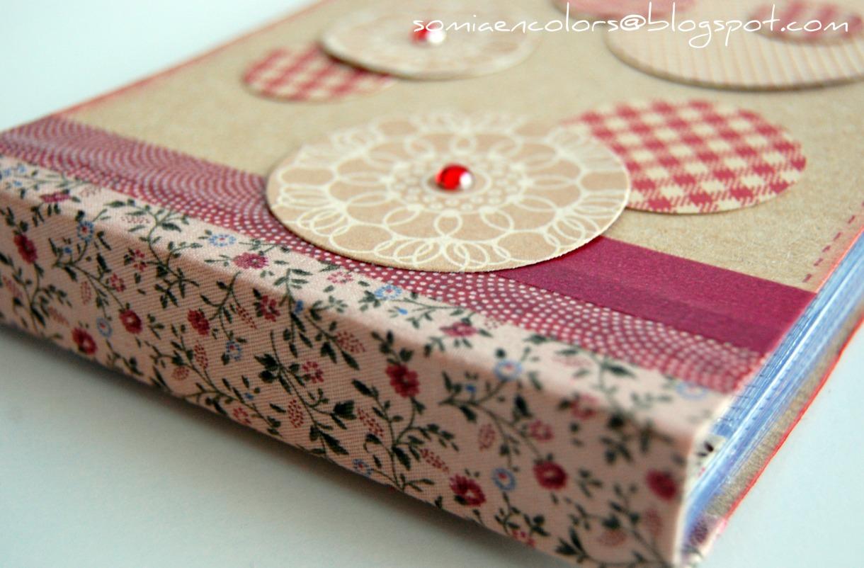 Somia en colors mini lbum con fundas de pl stico - Manualidades album de fotos casero ...