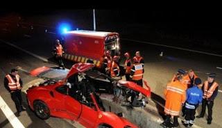 Kecelakaan Ferrari F430 Scuderia