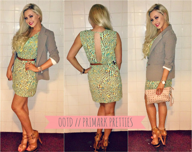Couture Girl Blogspot, Couture Girl Blog, UK Beauty and Fashion Blog, Kayleigh Louise Johnson, Couture Girl, Primark Summer Dress, Primark Blazer, Kurt Geiger Tan Heels