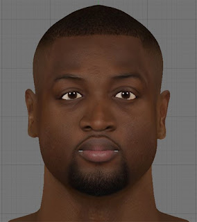 NBA 2K13 Dwyane Wade HD Cyber Face Patch
