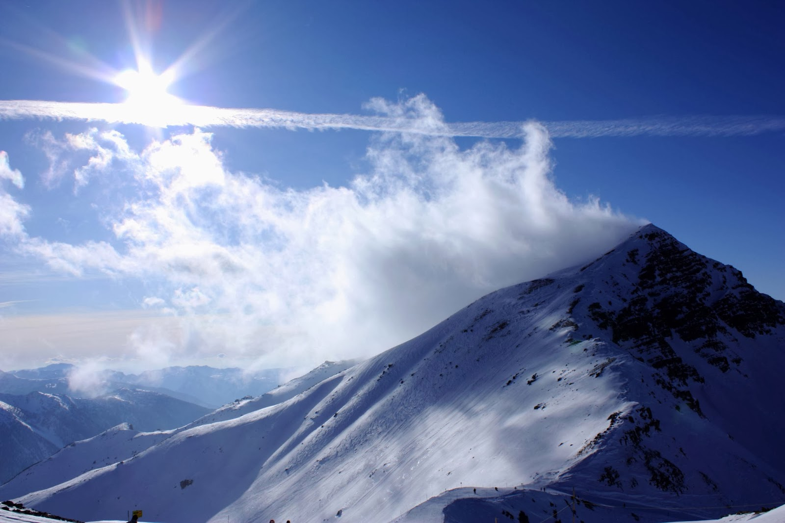 Snow Mountain Cloud Beautiful Nature Images And Wallpapers