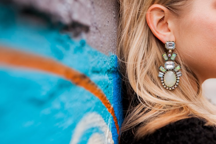 Bauble Bar Opal Galactic Earrings