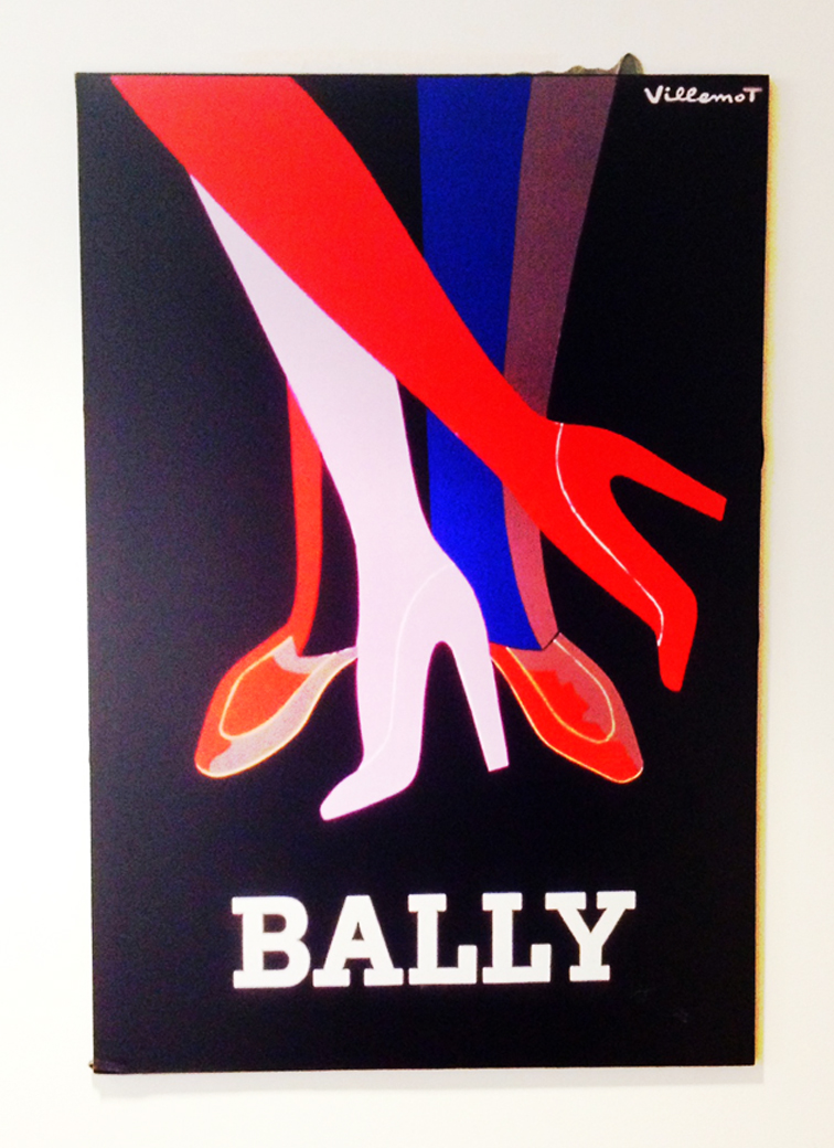 VINTAGE BALLY POSTER ADVERTISING SHOES