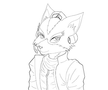 #1 Fox McCloud Coloring Page