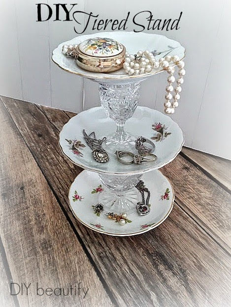 DIY tiered plate stand