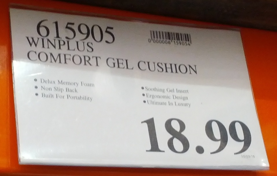 Deal for the Winplus Ultimate Gel Seat Cushion at Costco