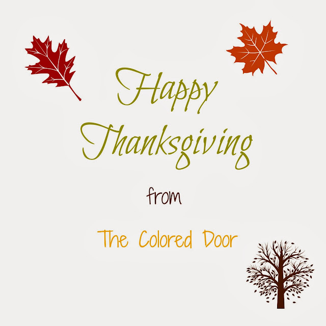 Happy Thanksgiving 2013 - the colored door