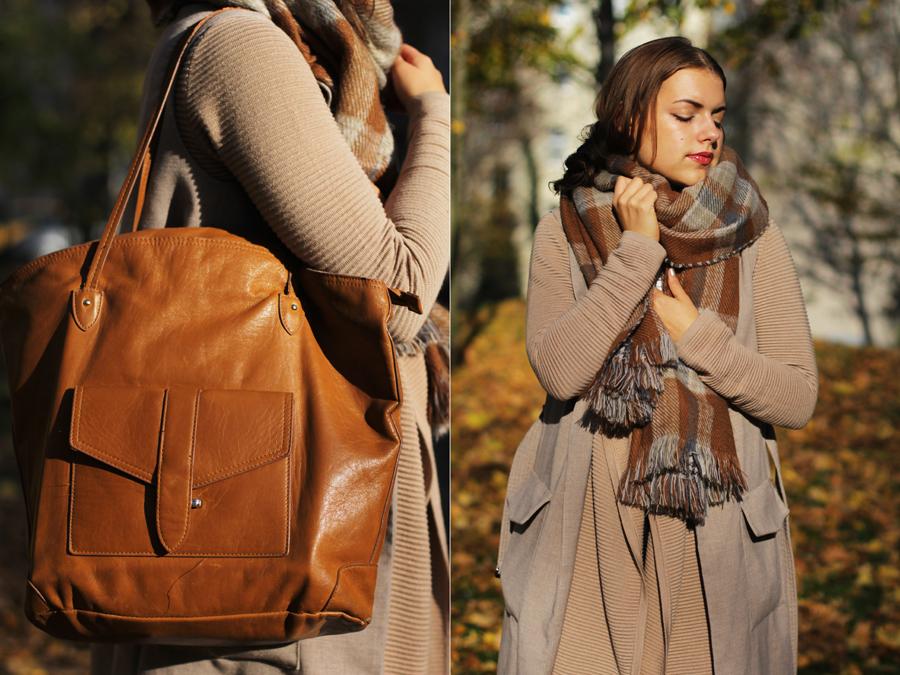 lookbook fashion blogger germany braune tasche