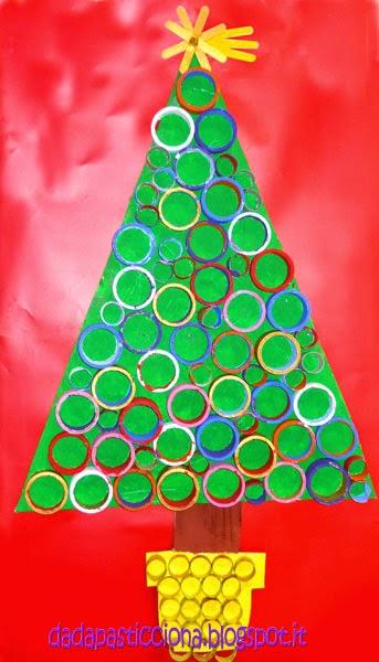 Dada pasticciona albero di natale ispirato alle opere di for Addobbi natalizi per scuole materne