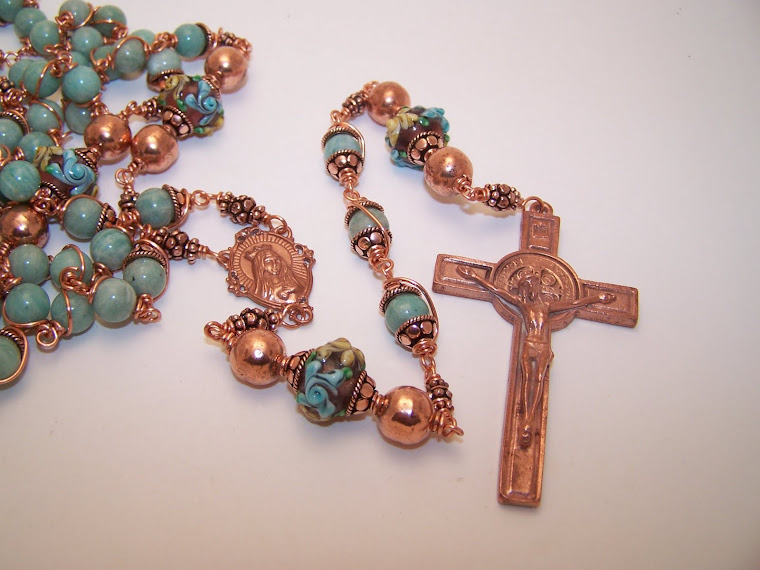 No. 11. b. SOLID COPPER! Rosary Of The Sacred Heart Of Mary