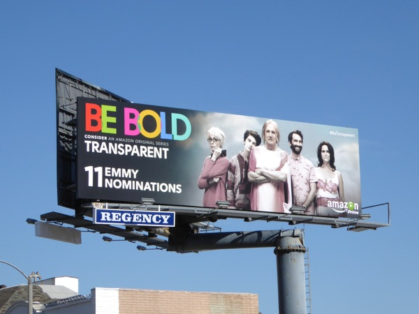 Transparent Be Bold 2015 Emmy nomination billboard