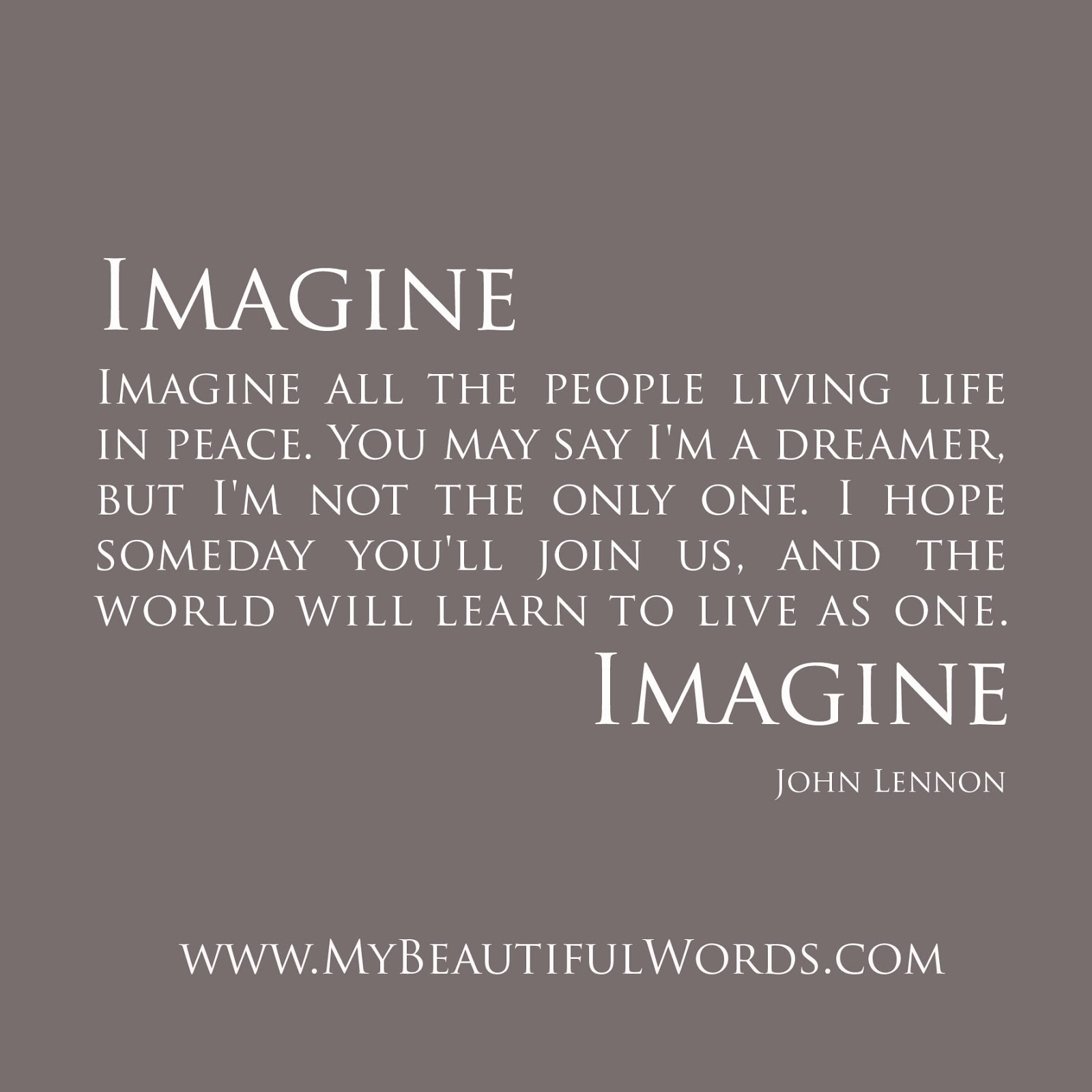 My Beautiful Words Imagine