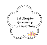 1st Simple Giveaway By Lily&Didy