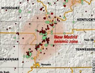 11/11/11 New Madrid Fault Line earthquake map