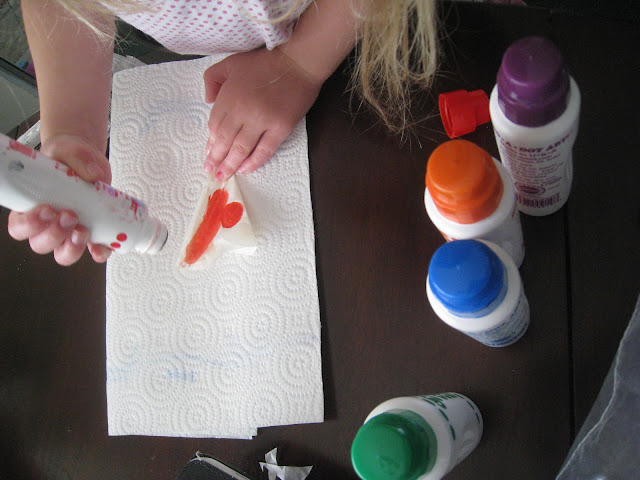 making a sun catcher craft