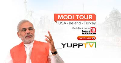 Modi US tour live