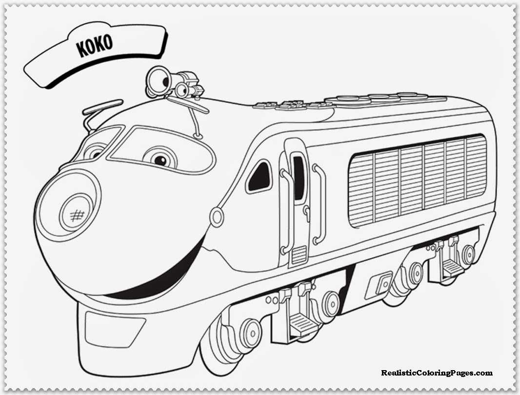 chuggington coloring pages koko