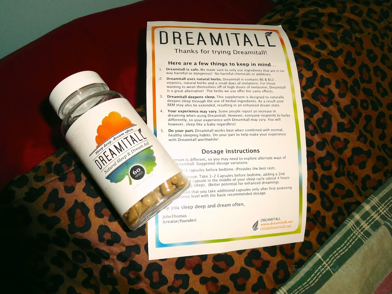 Dreamitall Natural Herbal Sleep Supplement