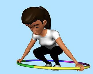 langkah ke empat bermain hula hoop