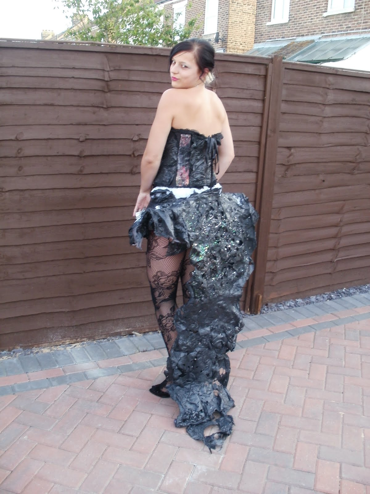Black bin liner dresses