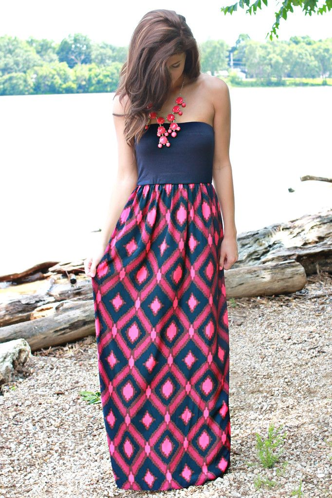 Colorful and adorable maxi dress for ladies