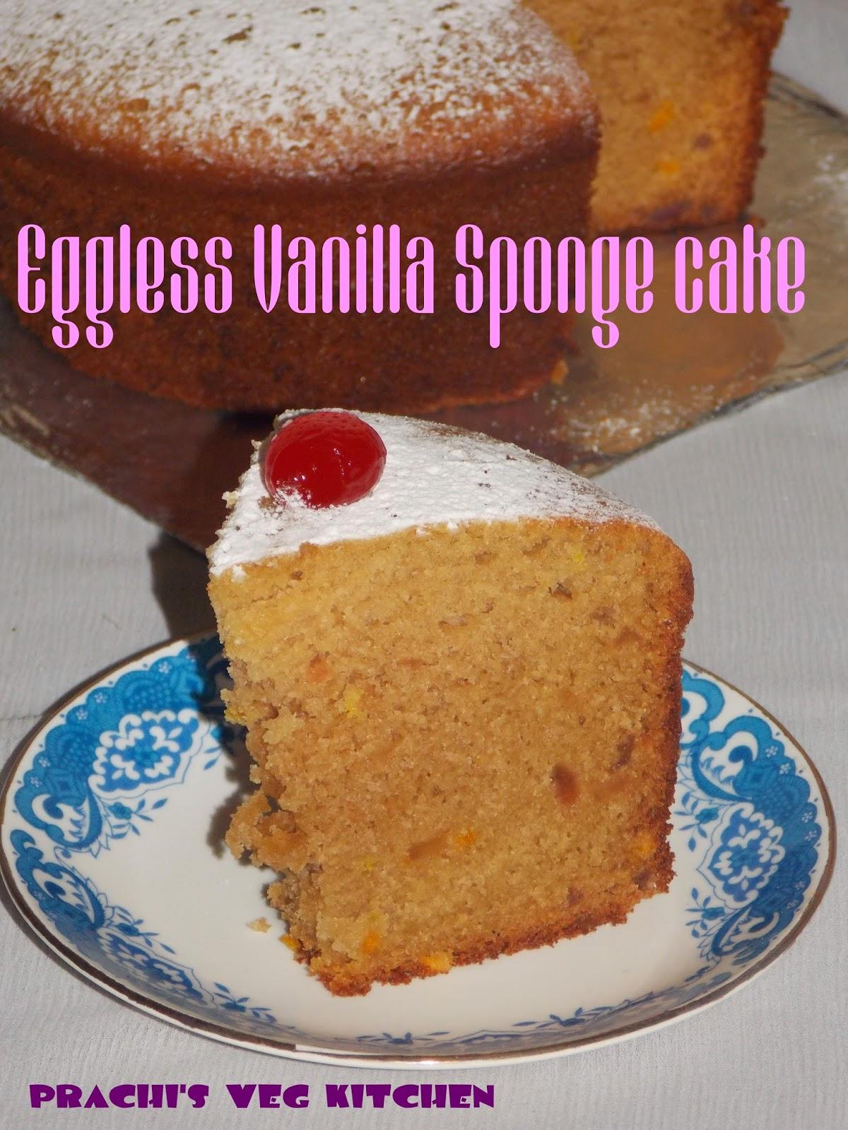 Prachi S Veg Kitchen Eggless Vanilla Sponge Cake Cake
