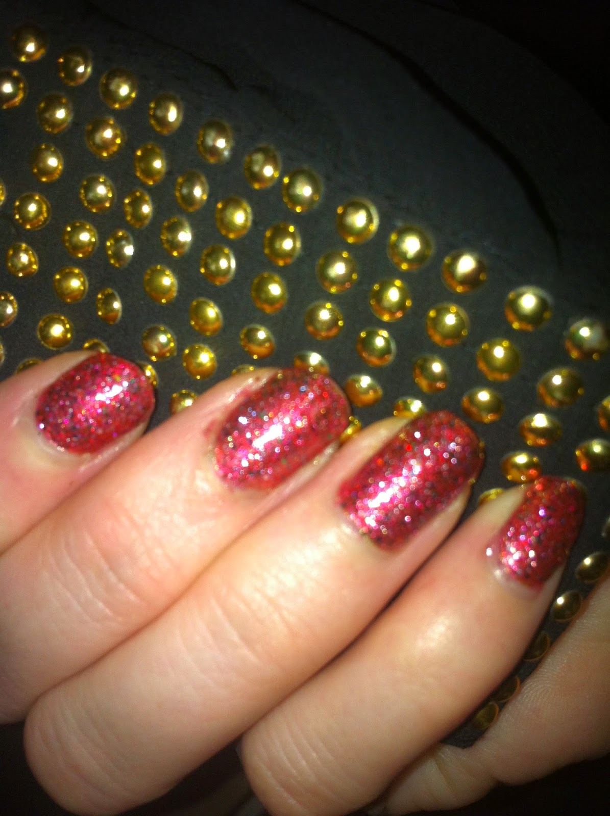 Swatch O.P.I Excuse Moi Glitter Pink